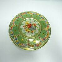 Round Tin Made In Holland Cookie Biscuit Embossed Floral Rose Vintage *READ*