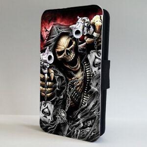 Skull Grim Reaper Poker Cards FLIP PHONE CASE COVER for IPHONE SAMSUNG