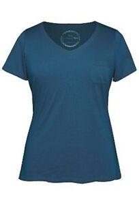 NEW The Avenue STRETCH V-Neck Soft Cotton Tagless Pocket T-Shirt Top Sizes 14-32