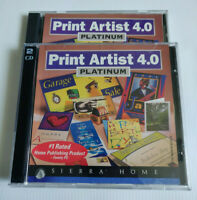 Sierra Print Artist Platinum 4.0 - 4 Discs Windows 95/98 & Mac - Home Publishing
