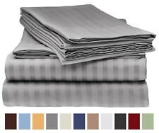 ITALIAN COLLECTION, 1800 COUNT BED SHEET STRIPED SET- KING ~ QUEEN ~ FULL ~TWIN