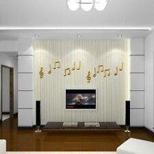 Mirrored Wall Stickers Dance Room Music Home Decor Acrylic Waterproof Removable