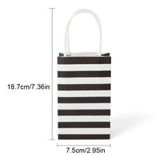20Pcs Mini Gift Bags Striped Paper Wedding Party Candy Handles Bag Loot Bags