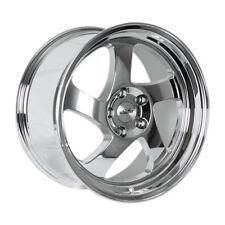 16x8 +20 Whistler KR1 4x100 Chrome Wheel Fits Mirage Xa Xb Jetta Civic Si ACCORD