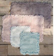 Badteppich Badläufer Vorleger Teppich rosa pink Volant 50 x 90 Shabby