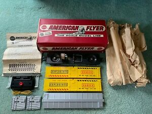 American Flyer #25062 Mine Carrier Exploding Boxcar RARE EX+ box paper button+