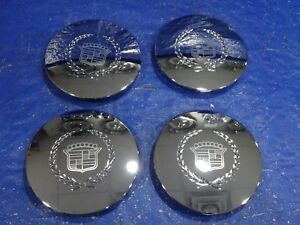96-06 CADILLAC ELDORADO DEVILLE DTS SEVILLE CHROME Wheel Hub Center Cap set nc