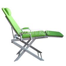 Portable Folding Chair Dentist Dental For Ultrasonic Scaler Curling Light Grenn