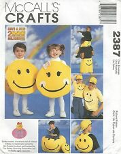 McCall's 2387 Smiley Face Accessories   Sewing Craft/Costume Pattern