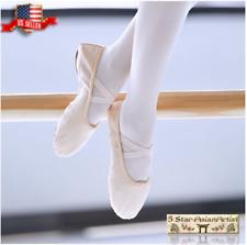 Ballet Dance Split-Sole # 1 Canvas Slipper Shoes For Toddler Kids & Girl