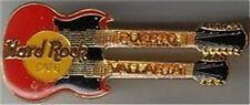 Hard Rock Cafe PUERTO VALLARTA 1990s Red DN GUITAR PIN HRC Catalog #7547