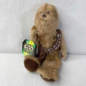 "Star Wars Buddies Chewbacca 10"" Hasbro Kenner Beanie 1997 New W Tags Vintage"