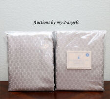 TWO Pottery Barn Kids MINI DOT LUXE JACQUARD Blackout Panels 44X96 GREY S/2 NEW