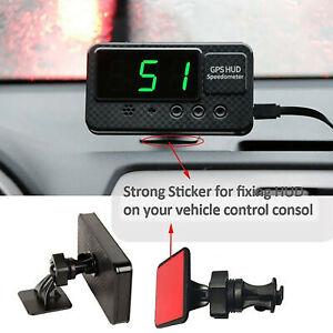 CAR BUS VAN HEAD-UP DISPLAY HUD GPS 12V DIGITAL LED SPEEDO SPEEDS WARNING UK