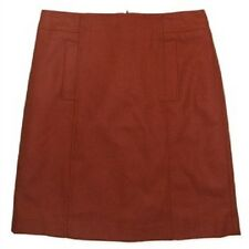 Jacqui E Orange Wool Fully Lined Skirt Size 6-18 18
