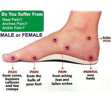 ORTHOTIC FOOT SUPPORT INSOLE FLAT FEET HEELS ARCHES PAIN RELIEF FOR WOMEN LADIES