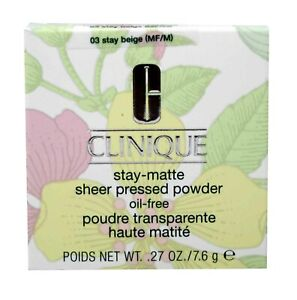 Clinique Stay-Matte Sheer Pressed Powder Oil Free Stay Beige .27 Ounces