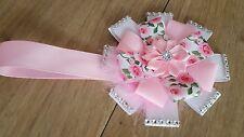 Stunning pink rose  magnetic vintage diamante bling pram charm