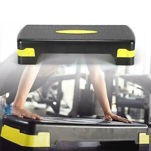 Home AEROBIC 2 LEVEL ADJUSTABLE YOGA STEP FITNESS Gym Board Non Slip Stepper