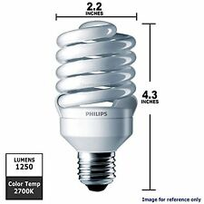 PHILIPS ENERGY SAVER 18W=75W CFL TWISTER 6-PACK