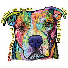Dogs Have A Way Neon Pit Bull Dog Tshirt    Sizes/Colors