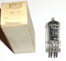 Pentode 6AK6 militaire fabrication BELVU NOS NIB