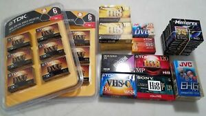 Mixed Lot of Video Recording Tapes & Discs DR