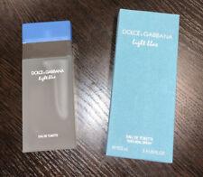 D&G light Blue 3.4 Oz Women's Eau de Toilette  100 ml OPENED BOX Gabbana
