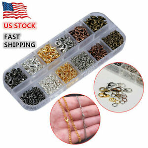 Wholesale Lobster Clasp Hook & Open Jump Ring Jewelry Findings DIY Accessories
