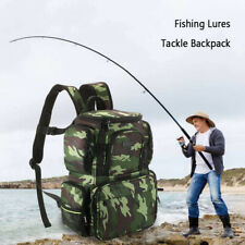 Fishing Tackle Bag Fishing Backpack Fishing Lures Bait Box Storage Bag UK Ship