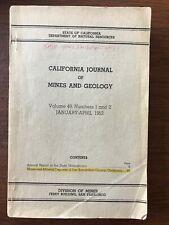 California Journal of Mines and Geology (Paperback 1955) San Bernardino County