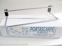SCARPIERA - 6 porta scarpe estensibili 47-65cm in acciaio cromato portascarpe