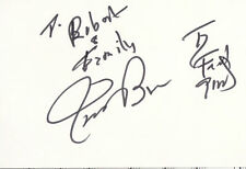 James Brown SIGNED 4x6 Index Card I Feel Good AUTOGRAPH