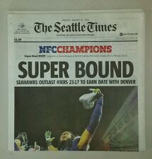 Seahawks in 2014 Super Bowl Seattle Times Newspaper Complete Edition (1/20/2014)