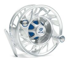 Hatch 9 Plus Finatic Reel NEW in Box ~ Large Arbor ~ Clear / Blue Closeout