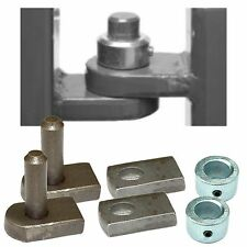 Weld On Gate Hinge Set - 12mm Pin & Hole With Security Collars - Welding hinges