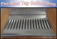 "10"" x 6"" Stainless Steel Wall Mount Drip Tray for Kegerator - Keezer - Beer Tap"