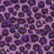 Dena Designs Haute Girls Leopard Fabric in Black PWDF203 100% Cotton