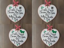 Personalised Pet Christmas Santa Paws Cat Dog Heart Tree Decoration Plaque Gift
