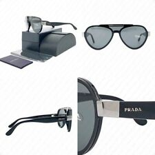 Authentic PRADA PR 01US 1AB5S0 44mm Black w/Grey Lenses Sunglasses