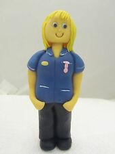 lady nurse,midwife edible hand made  figure birthday cake topper,mum nan sister
