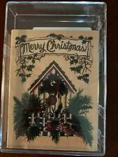 Euc Merry Christmas Stamping Rubber Wooden Crafts Cards Decor Embossing Party