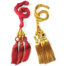 Golden and Silver Paranda Parandi Hair Accessory Braid Tassles - 2 Piece