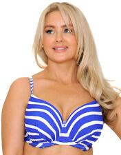 Lepel Riviera Plunge Bikini Top 60060 Blue / White 34 E