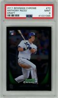 ANTHONY RIZZO 2011 Bowman Chrome #70 RC Rookie (Padres) (Cubs) PSA 9 MINT