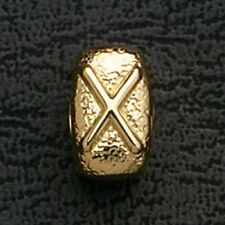 European Beads Charms Initial X Gold Plated Stainless Steel Charm Bracelet Bead