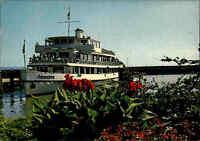 Schiffsfoto-AK Binnenschiff BODENSEE Schiff Ship Motorschiff SCHWABEN color AK