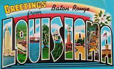 Vintage Postcard Greetings From Baton Rouge LOUISIANA 1960s