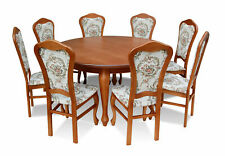 Classical round round Table Wood Design Dining Room Tables +8 Chairs Conference