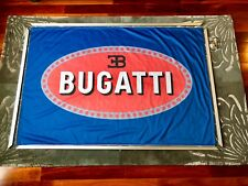 Huge Dealer Only Display Bugatti 6' x 4' Fabric Poster w/ Hardware! Super Rare!